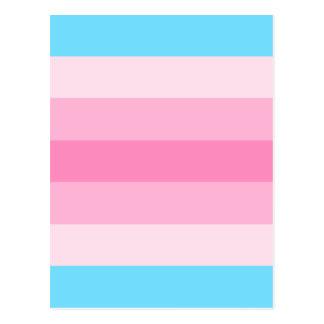 Carte Postale drapeau de transfeminine