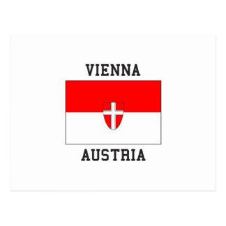 Carte Postale Drapeau de Vienne Autriche