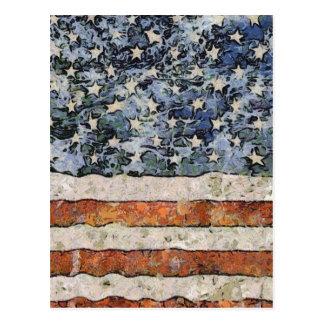 Carte Postale Drapeau des Etats-Unis