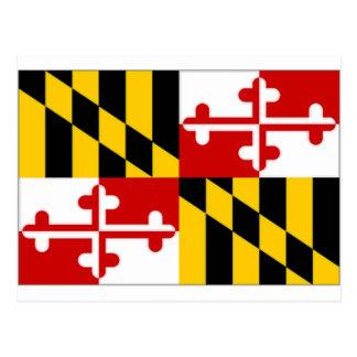 Carte Postale Drapeau des Etats-Unis le Maryland