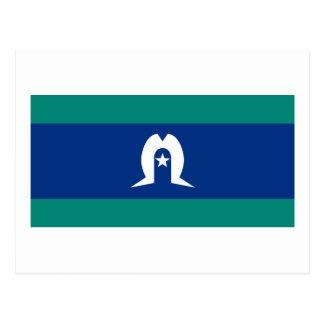 Carte Postale Drapeau des îles de détroit de Torres