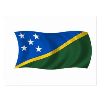 Carte Postale Drapeau des îles Salomon