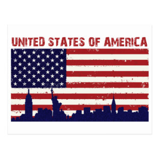 Carte Postale Drapeau des USA
