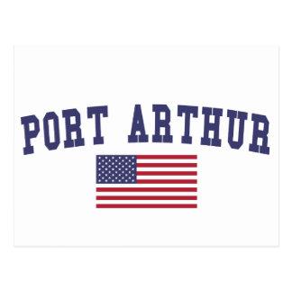 Carte Postale Drapeau des USA de Port Arthur