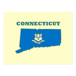 Carte Postale Drapeau d'état du Connecticut