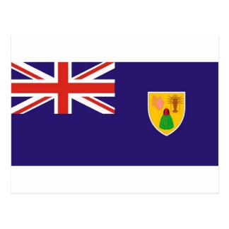 Carte Postale Drapeau d'île de Turcs et de Caïques