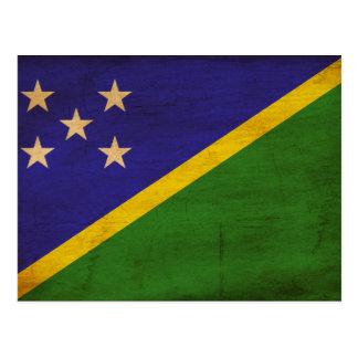 Carte Postale Drapeau d'îles Salomon