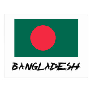 Carte Postale Drapeau du Bangladesh