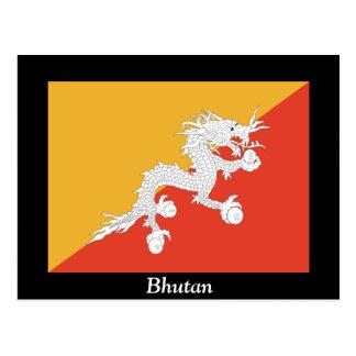 Carte Postale Drapeau du Bhutan