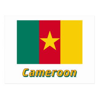 Carte Postale Drapeau du Cameroun avec le nom