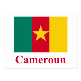 Carte Postale Drapeau du Cameroun avec le nom en français