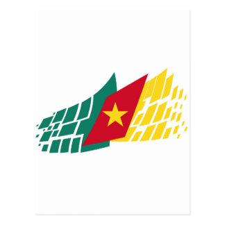 Carte Postale Drapeau du Cameroun stylé