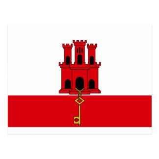 Carte Postale Drapeau du Gibraltar