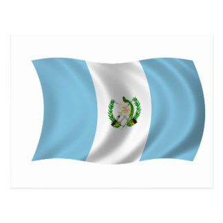 Carte Postale Drapeau du Guatemala