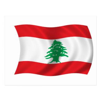 Carte Postale Drapeau du Liban