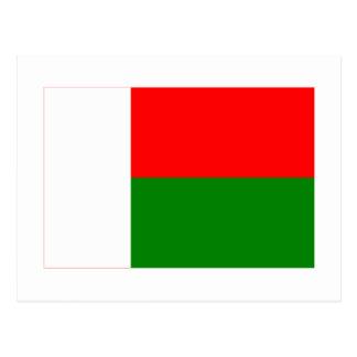 Carte Postale Drapeau du Madagascar