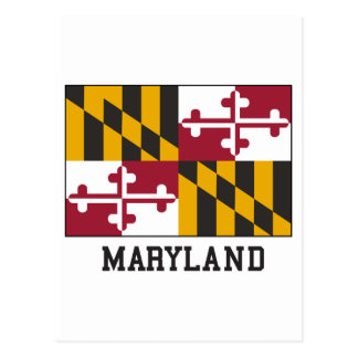 Carte Postale Drapeau du Maryland