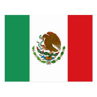 Carte Postale Drapeau du Mexique
