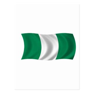 Carte Postale Drapeau du Nigéria