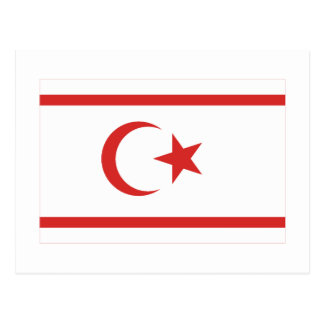 Carte Postale Drapeau du nord de la Chypre