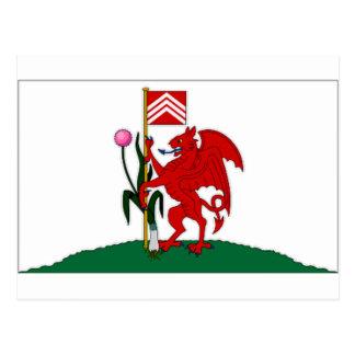 Carte Postale Drapeau du Royaume-Uni Cardiff
