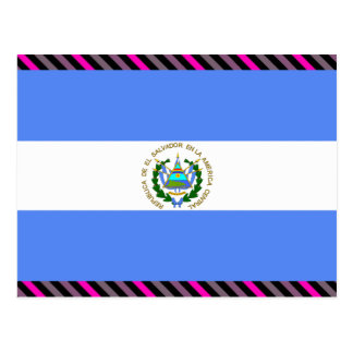 Carte Postale Drapeau du Salvador