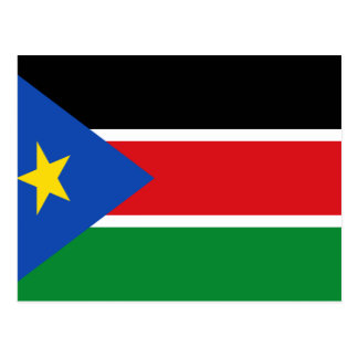 Carte Postale Drapeau du sud du Soudan