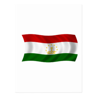 Carte Postale Drapeau du Tadjikistan