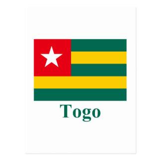 Carte Postale Drapeau du Togo avec le nom