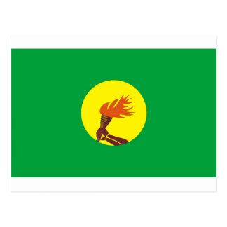 Carte Postale Drapeau du Zaïre-Congo