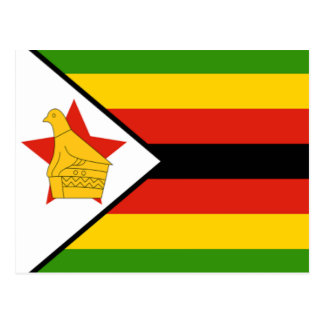 Carte Postale Drapeau du Zimbabwe