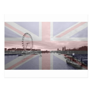 Carte Postale Drapeau d'Union Jack d'horizon de Londres