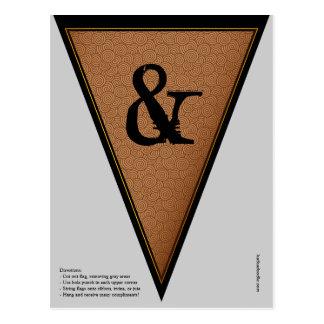 Carte Postale Drapeau gothique vintage d'étamine de bannière de