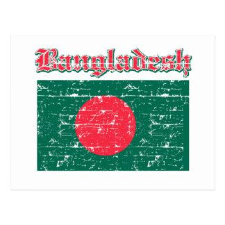 Carte Postale Drapeau grunge du Bangladesh