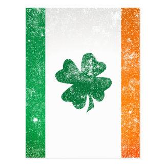 Carte Postale Drapeau irlandais