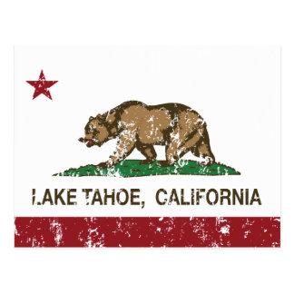 Carte Postale Drapeau le lac Tahoe de République de la