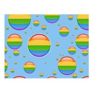 Carte Postale Drapeau lesbien gai de bulle de fierté