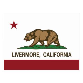 Carte Postale Drapeau Livermore d'état de la Californie