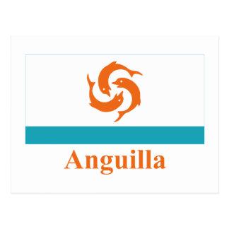 Carte Postale Drapeau local d'Anguilla avec le nom