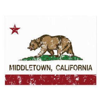 Carte Postale Drapeau Middletown de République de la Californie