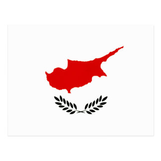 Carte Postale Drapeau monochrome de la Chypre