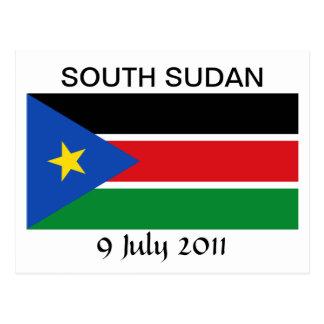 Carte Postale Drapeau national du sud du Soudan
