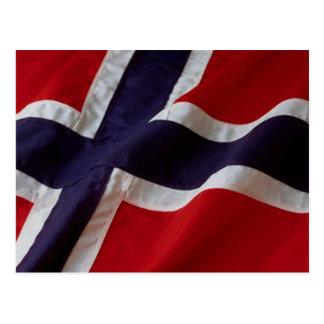 Carte Postale Drapeau norvégien