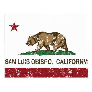 Carte Postale Drapeau San Luis Obispo d'état de la Californie