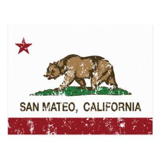 Carte Postale Drapeau San Mateo d'état de la Californie