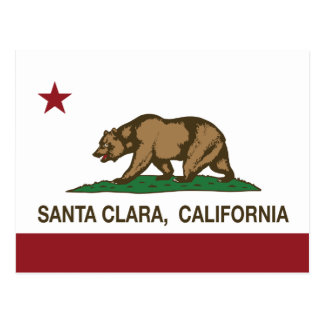Carte Postale Drapeau Santa Clara d'état de la Californie