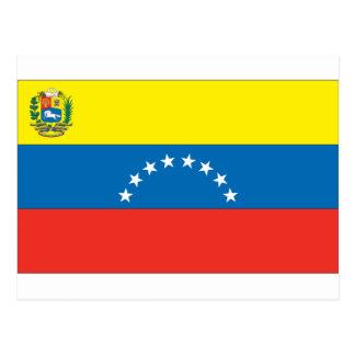 Carte Postale Drapeau vénézuélien