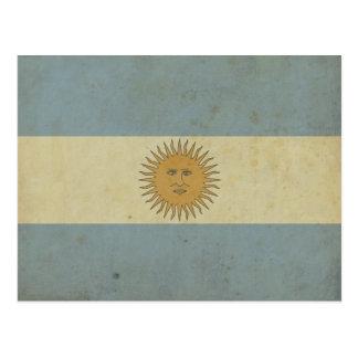 Carte Postale Drapeau vintage de l'Argentine