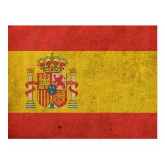 Carte Postale Drapeau vintage de l'Espagne