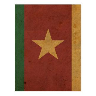 Carte Postale Drapeau vintage du Cameroun